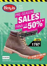 Catalog HERVIS SPORT - Reduceri Pre Sezon, -50% ! 06 Octombrie 2016 - 16 Octombrie 2016