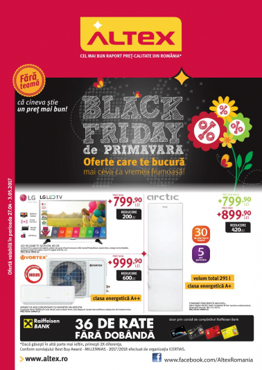 Catalog ALTEX Black Friday 27 Aprilie 2017 – 03 Mai 2017