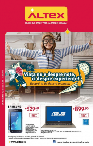 Catalog ALTEX 25 August 2016 – 14 Septembrie 2016