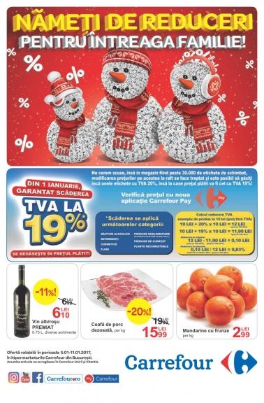 Catalog CARREFOUR – Oferte Alimentare! 05 Ianuarie 2017 – 11 Ianuarie 2017
