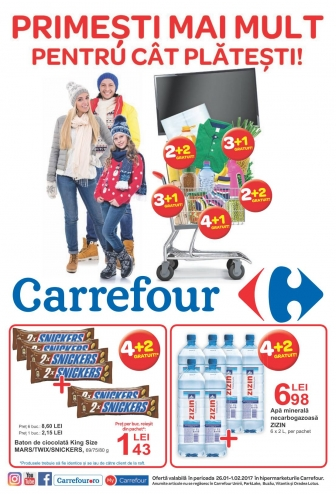 Catalog CARREFOUR – Oferte Alimentare & Nealimentare! 26 Ianuarie 2017 – 01 Februarie 2017