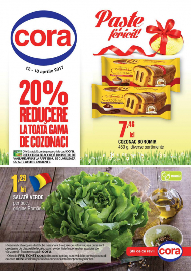 Catalog CORA 12 Aprilie 2017 – 18 Aprilie 2017