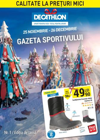 Catalog DECATHLON – Gazeta sportivului! 25 Noiembrie 2016 – 26 Decembrie 2016