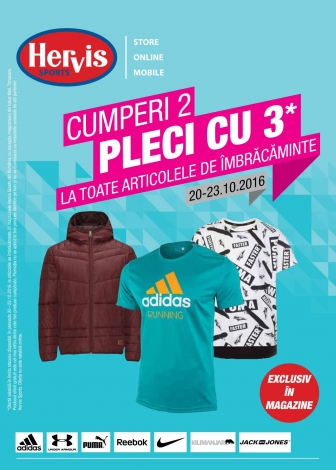 Catalog HERVIS SPORT – 20 Octombrie 2016 – 23 Octombrie 2016