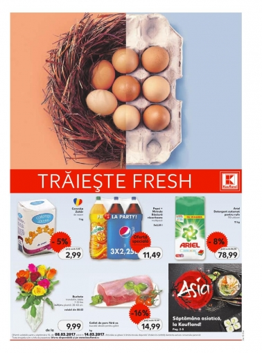 Catalog KAUFLAND Magazin Barbu Vacarescu Bucuresti, valabilitate: 08 Martie 2017 – 14 Martie 2017