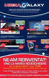 Catalog MEDIA GALAXY – Mrea Redeschidere Media Galaxy Mall Vitan! 06 Aprilie 2017 – 09 Aprilie 2017