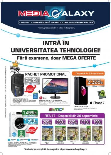 Catalog MEDIA GALAXY – Intra in universitatea tehnologiei! 21 Septembrie 2016 – 12 Octombrie 2016