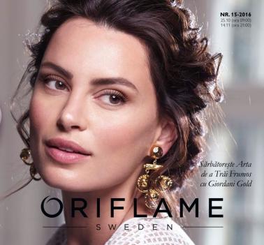 Catalog ORIFLAME C15 2016, valabilitate: 25 Octombrie 2016 – 14 Noiembrie 2016