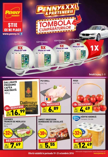 Catalog PENNY MARKET valabilitate: 19 Octombrie 2016 – 25 Octombrie 2016