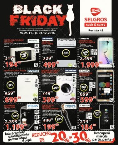Catalog SELGROS Black Friday 2016! 25 Noiembrie 2016 – 01 Decembrie 2016
