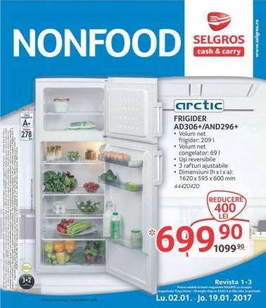 Catalog SELGROS Nealimentar 02 Ianuarie 2017 – 19 Ianuarie 2017