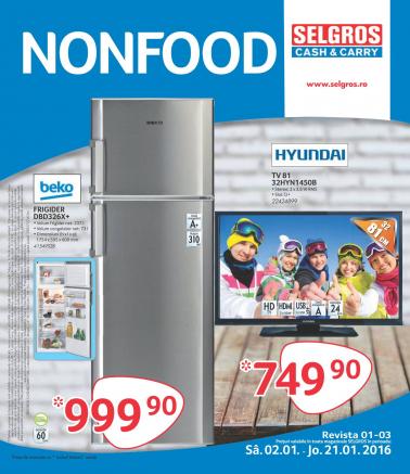 Catalog SELGROS Non Alimentar! valabilitate: 02 Ianuarie 2016 – 21 Ianuarie 2016